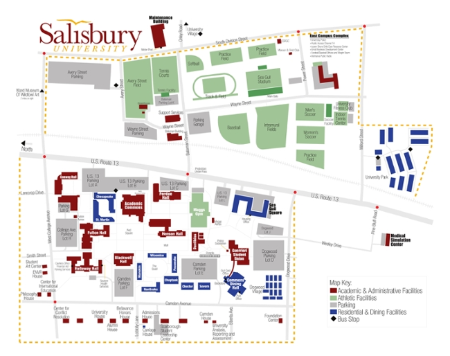 Salisbury University Map SU Campus | Shore Fraud Conference Salisbury University Map